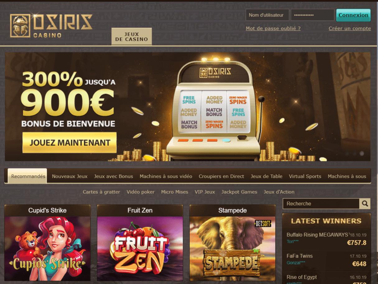 Avis Osiris Casino : ce que nous pensons sur ce casino
